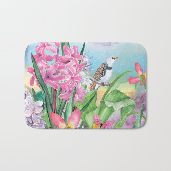 Macro Flower #17 Bath Mat