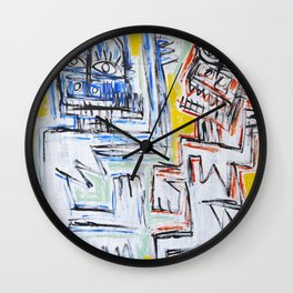 Dance of the spirits by Johnny Otto Wall Clock