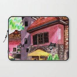 Vintage house street cafe Laptop Sleeve