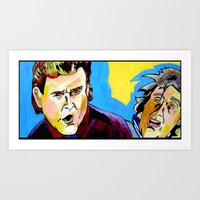 dumb and dumber Art Prints featuring Uncle Joey and Dumb and Dumber guy. by Paul Kobler Art