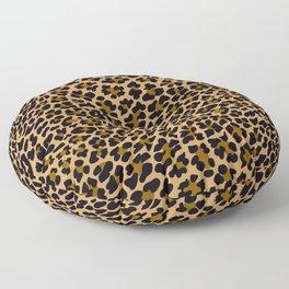 LEOPARD LEO SKIN ORIGINAL BLACK, BROWN. ANIMAL PRINT Floor Pillow