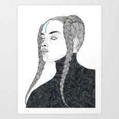 DoodleGirl One Art Print