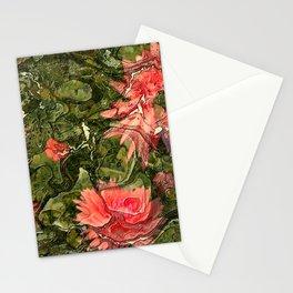Pink flowers by Lika Ramati Stationery Cards