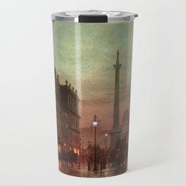 Trafalgar Square, Nelson's Column, London, England, Twilight by John Atkinson Grimshaw Travel Mug