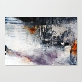 Black and white abstract painting print  Canvas Print
