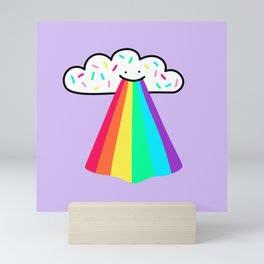 Rainbow Blast - Cute happy rainbow - smiling rainbow Mini Art Print