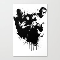 fight Canvas Prints featuring fight by DIVIDUS