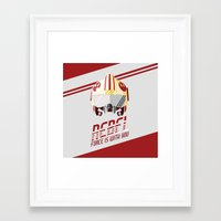 rebel Framed Art Prints featuring Rebel by Tony Vazquez
