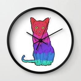 Graffiti Cat Wall Clock