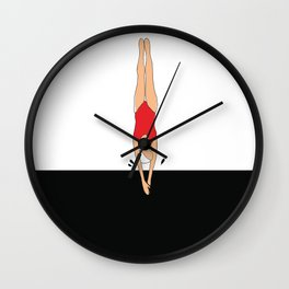 Swimmer. Dive. Wall Clock