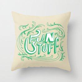 Fun Stuff Throw Pillow