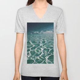 Sailing Ocean Blues Unisex V-Neck