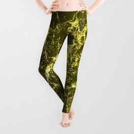 Yellow Marble Leggings