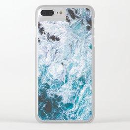 Ocean Color Scenes Clear iPhone Case