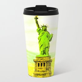 Statue of Liberty Yellow Metal Travel Mug