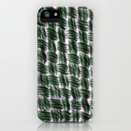 Macrame Square Knots: Green With Pink Accents iPhone Case