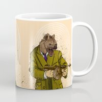 gangster Mugs featuring Gangster Hyena by Ichorteeth