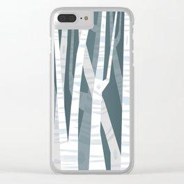 Blue Birches Clear iPhone Case