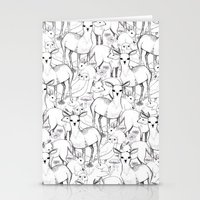 woodland Stationery Cards featuring Woodland by Lydia Meiying