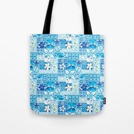 New Hawaiin Motif in Blue Tote Bag