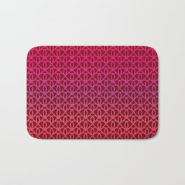 Pattern on burgundy background for Valentine's Day Bath Mat