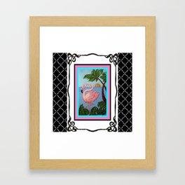 Flamingo Paradise Framed Art Print