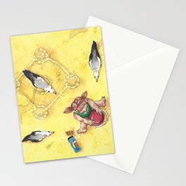 Hunting on the beach Stationery Cards