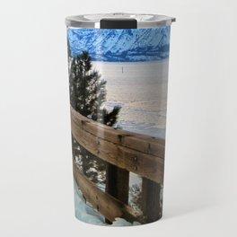 Winter lake scenery Travel Mug