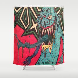 DEMON GOD 'FREAK ANY HO' Shower Curtain