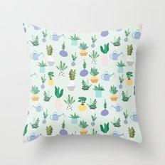 Plant pot Pattern Throw Pillow
