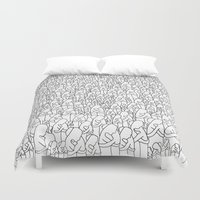 hug Duvet Covers featuring Hug by Cela Luz