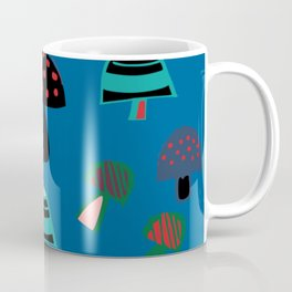 Cute Mushroom Blue Coffee Mug