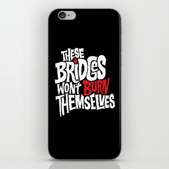 Burning Bridges iPhone Skin