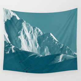 Alaskan Mts. I, Bathed in Teal Wall Tapestry