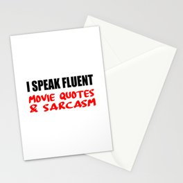 i speak fluet sarcasm Stationery Cards