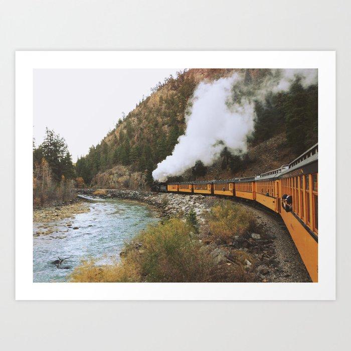 Steam Train Kunstdrucke