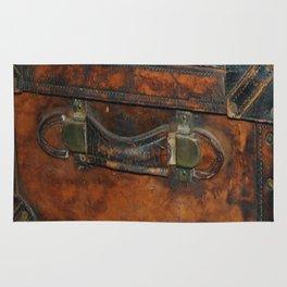 Steam-punk Vintage Steamer-trunk Handle Rug
