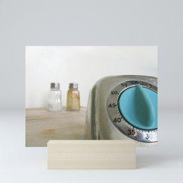 retro timer Mini Art Print
