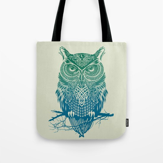 Warrior Owl Tote Bag
