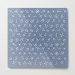 Very Simple Snow Flake - Light blue illustration Metal Print