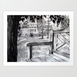 Benchin' Art Print