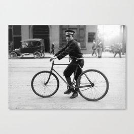 Vintage Bike Messenger - Alabama - 1914 Canvas Print