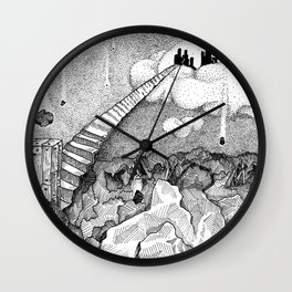 Stipple Scape Wall Clock