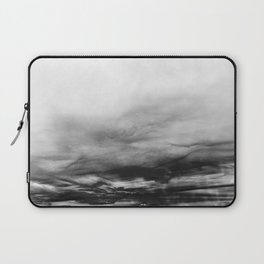 WHITE & BLACK TOUCHING #1 #abstract #decor #art #society6 Laptop Sleeve