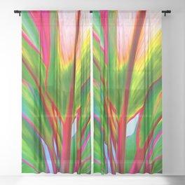 Ti Leaf Series #4 Sheer Curtain