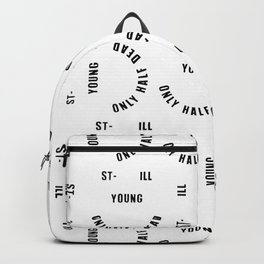 Still Young / Paintings, Poster, Art Print, Deco, Art, Comic, Illustration, Sarcasm, Smiley Face, Sc Backpack