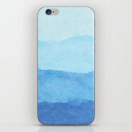 Ombre Waves in Blue iPhone Skin