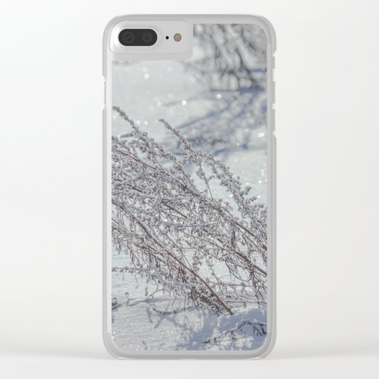 Winter grass Clear iPhone Case