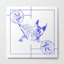 tengu white Metal Print