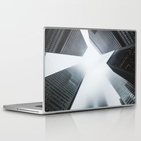 cityscape Laptop & iPad Skins featuring Cityscape by General Design Studio